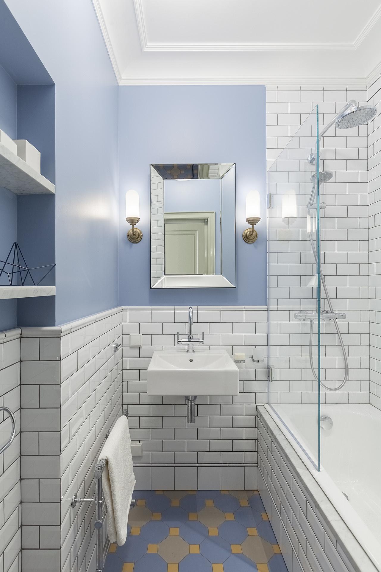 Синяя ванная комната: 15 идей (галерея 1, фото 5)