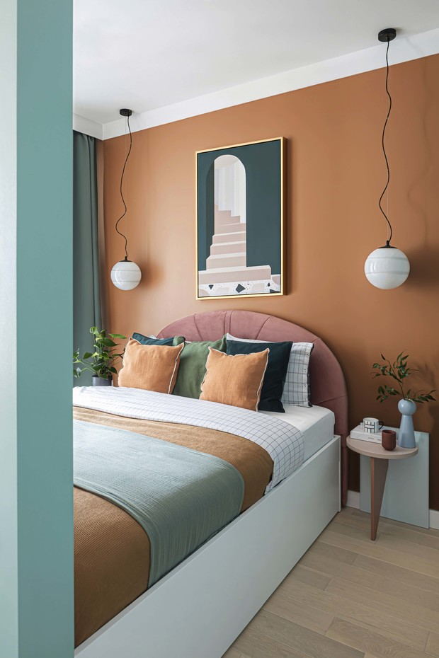 Маленькая квартира в стиле неомемфис 35 м² (фото 12)