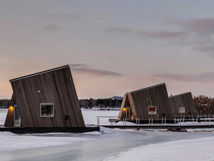 Arctic Bath: плавучий отель в Швеции (фото 7)