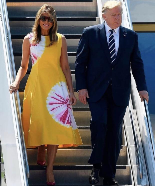 Мелания Трамп показывает, как сочетать желтый и розовый в одном образе (фото 1)