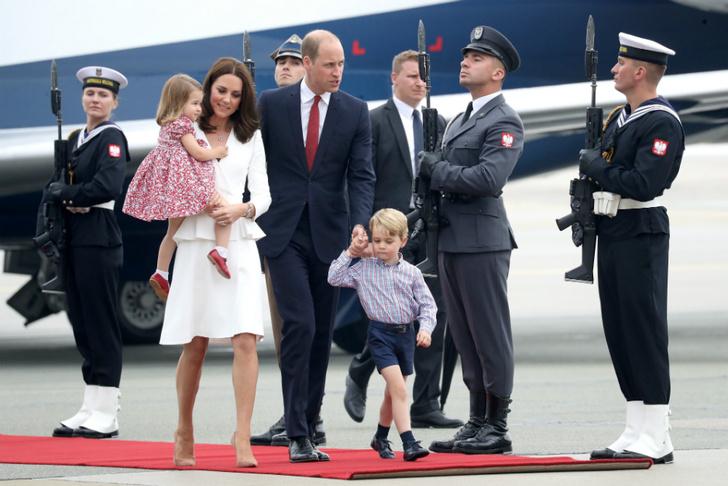 Принц Уильям, Кейт Миддлтон, принц Георг и принцесса Шарлотта