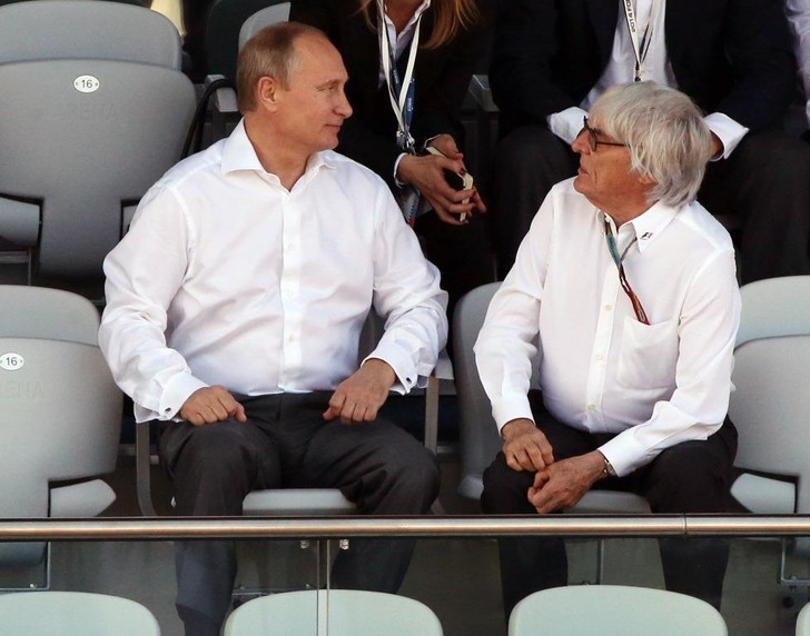 Владимир Путин и Берни Экклстоун