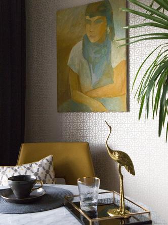 Яркая геометрия в петербургской квартире фото [17]