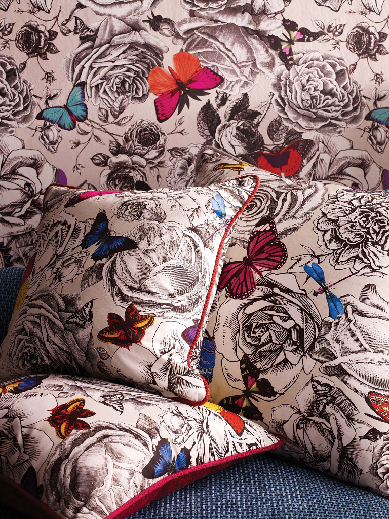 Ткань и обои Butterfly Garden, Osborne & Little.