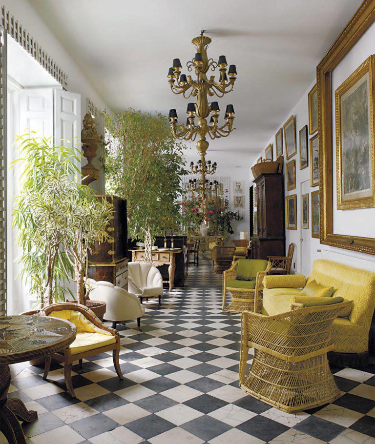 «Шахматный» рисунок на полу: 20+ примеров (галерея 0, фото 6)