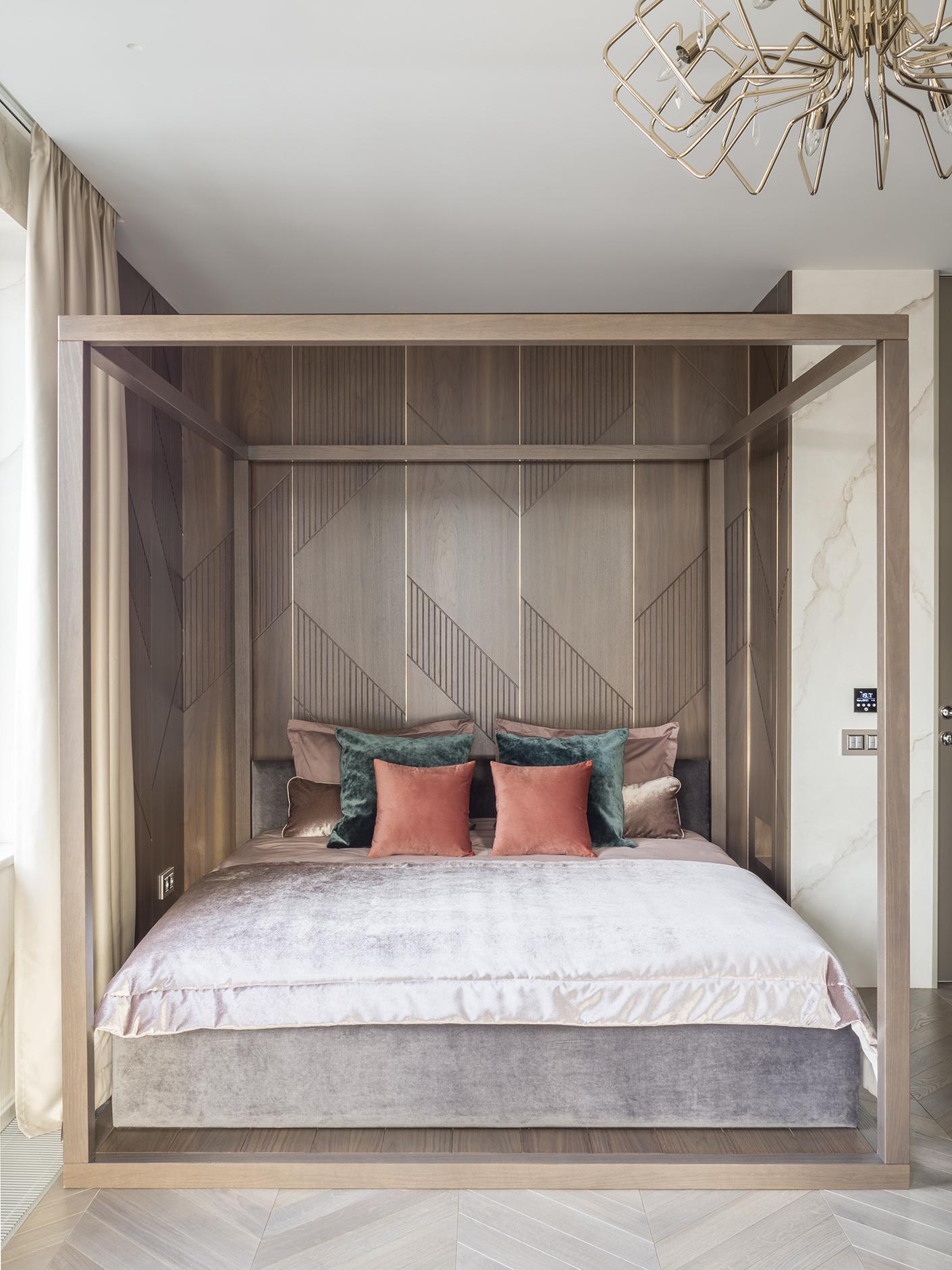 Деревянные панели в спальне: 10 примеров (галерея 0, фото 1)