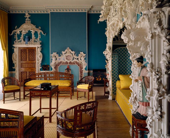 В XVIII веке было модно оформлять тематические «китайские комнаты». Эта сохранилась в английском особняке Клэйдон.