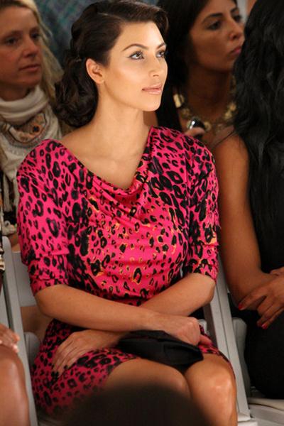 Ким Кардашьян на показе Tracy Reese
