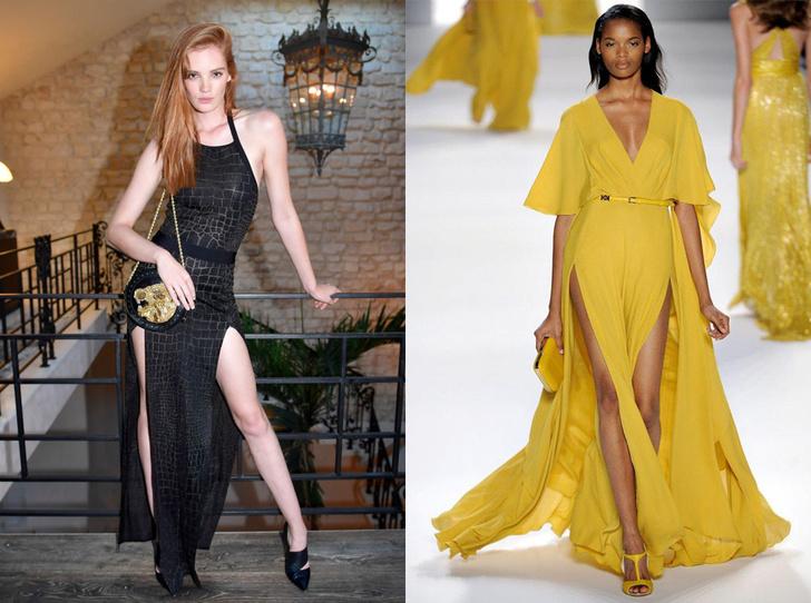 Платья с разрезами по бокам
