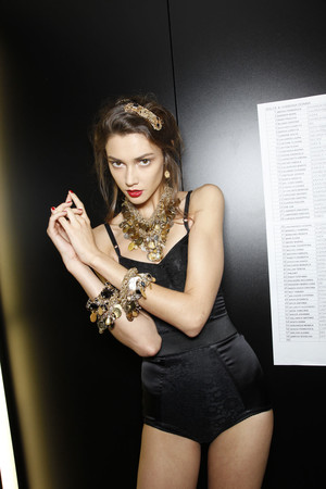 Показ Dolce & Gabbana коллекции сезона Весна-лето 2010 года Prêt-à-porter - www.elle.ru - Подиум - фото 117843