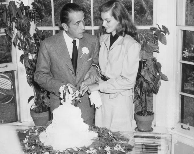 Свадьба Хамфри Богарда и Лорен Бэколл