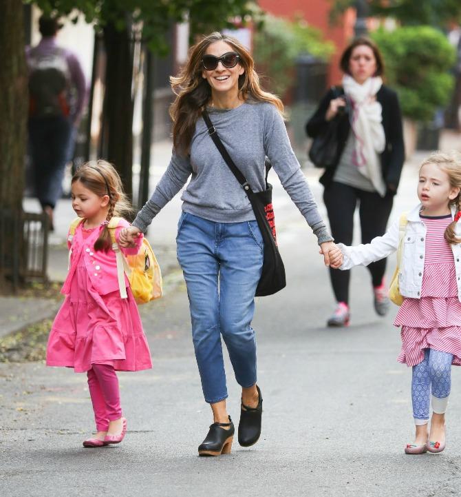 Сара Джессика Паркер с дочками Мэрион и Табитой