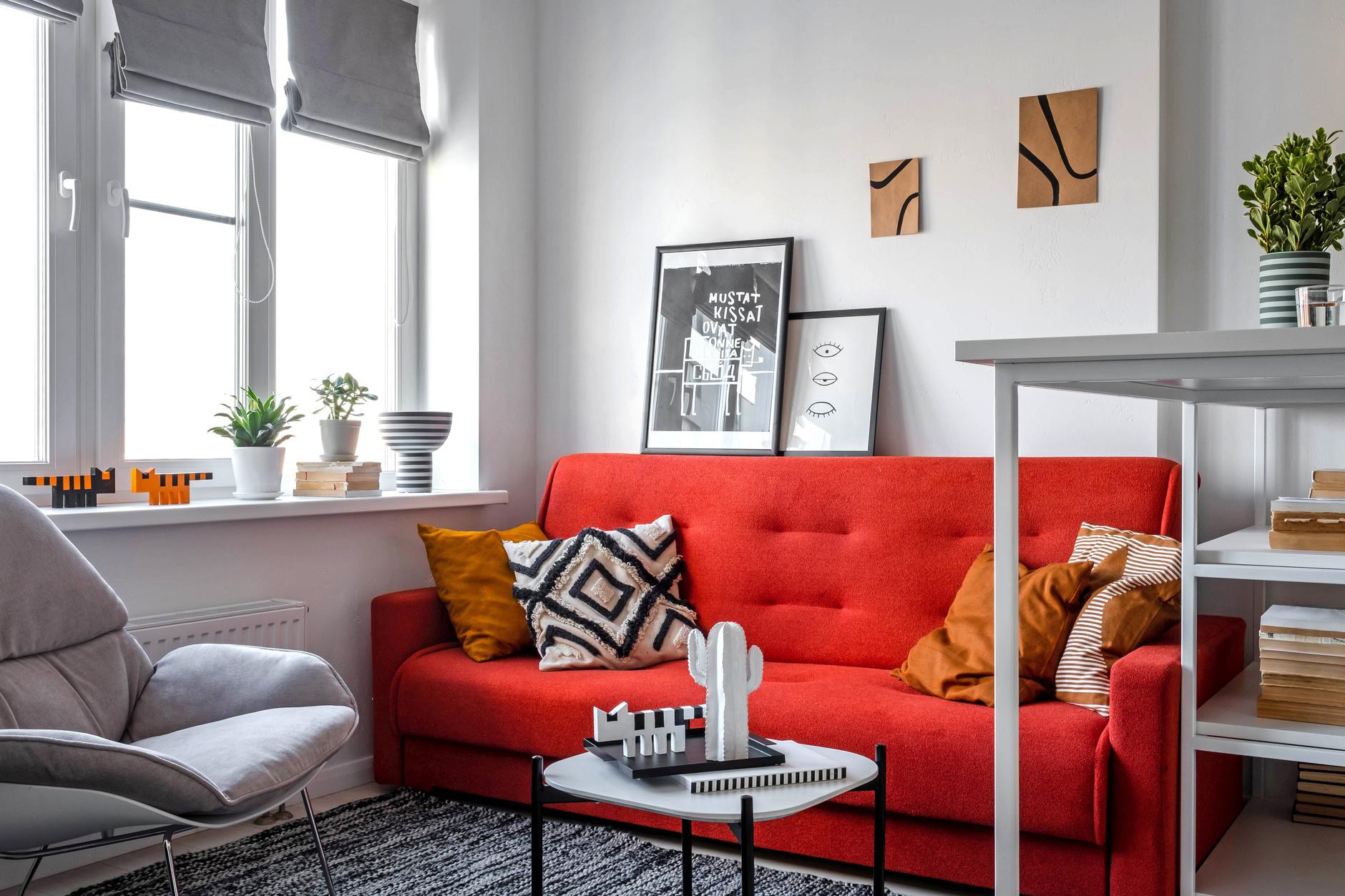 Терапия цветом: 30 проектов ярких гостиных (галерея 0, фото 0)