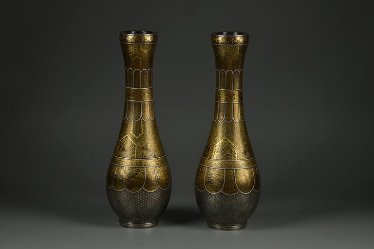 Парные вазы, период Мэйдзи (1868–1912 гг.), Япония