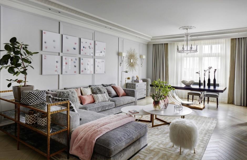 Большие диваны в гостиной (галерея 0, фото 2)