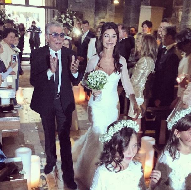 Роберто Кавалли с дочерью Кристианой