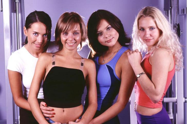 Жанна Фриске в составе группы «Блестящие»