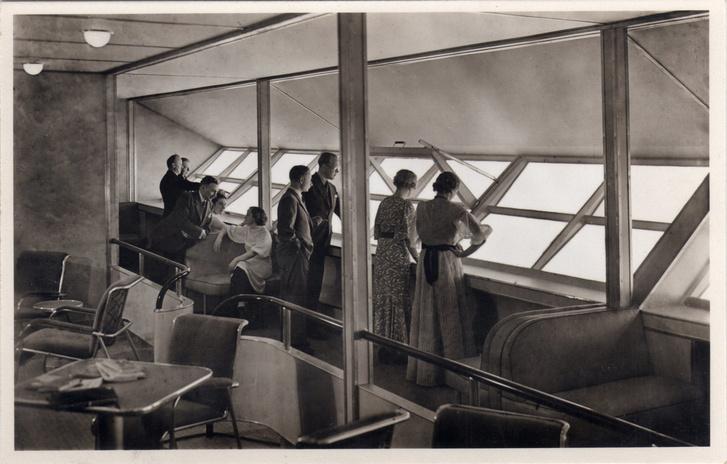 Интерьеры дирижабля «Гинденбург» (фото 8)