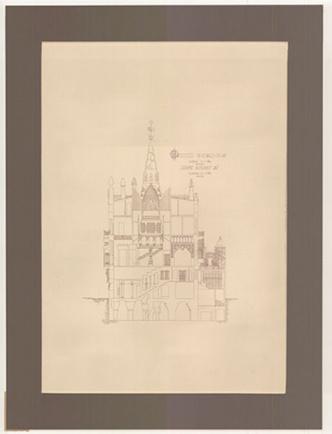 Джоан Алсина. Дворец Гуэля: фрагмент чертежа
