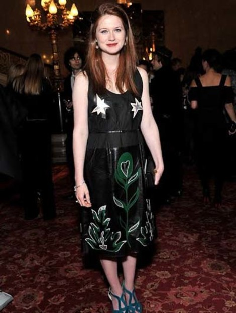 Бонни Райт в платье Miu Miu весна 2011