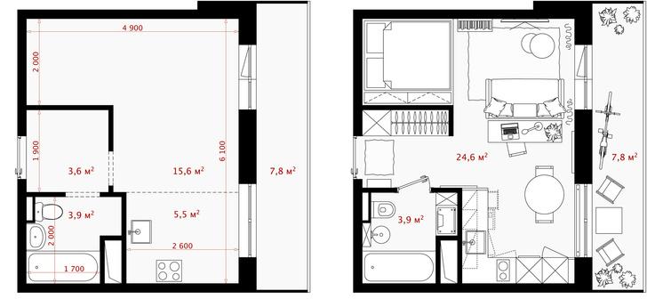 Первый план: все, что нужно знать о планировке маленьких квартир (фото 27)