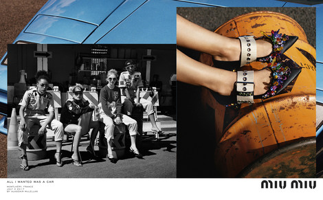 Miu Miu выпустили рекламу с Даутцен Крез и Эль Фаннинг в роли гонщиц | галерея [1] фото [1]