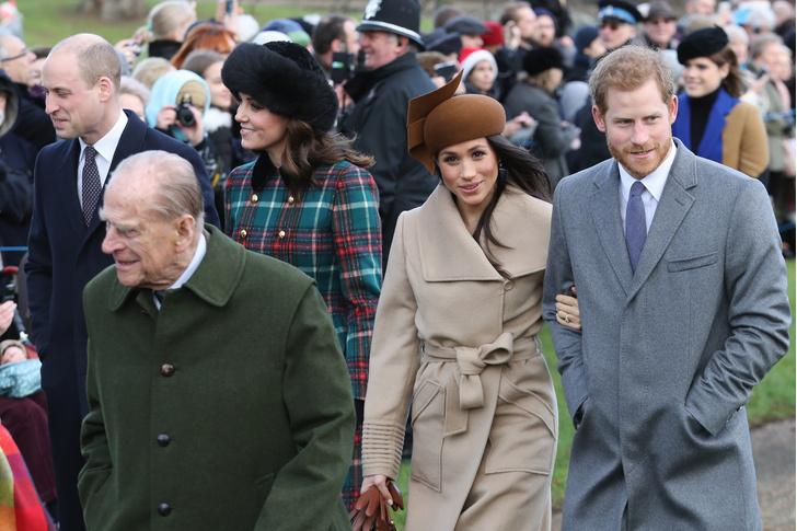 Меган Маркл и принц Гарри на рождественской службе (фото 1)