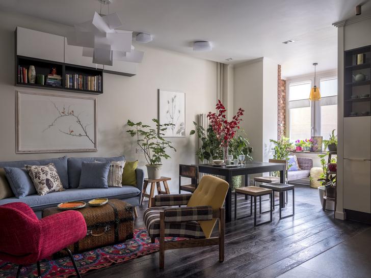 Утопая в зелени: квартира 79,5 м² в Заречье (фото 0)