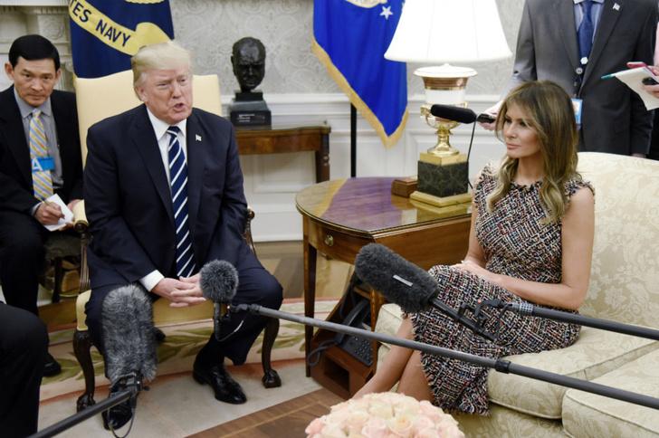 Мелания Трамп на встрече с премьер-министром Таиланда фото [3]