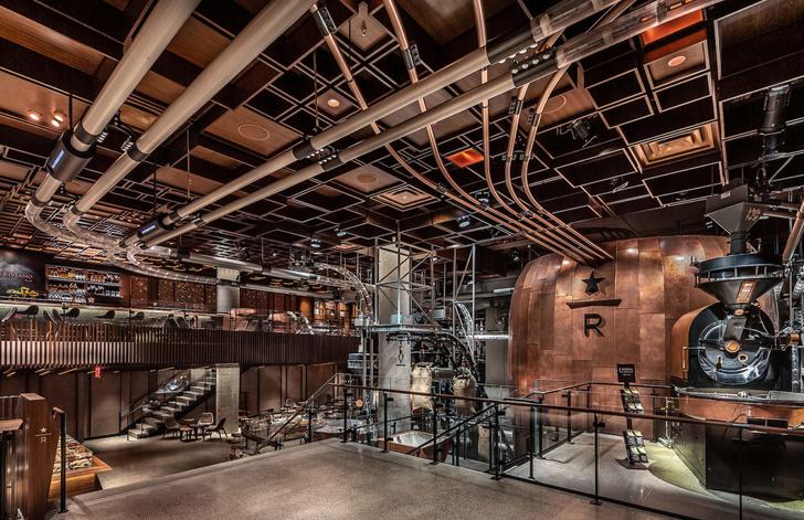 Starbucks в Нью-Йорке: кафе и обжарочный цех (фото 0)