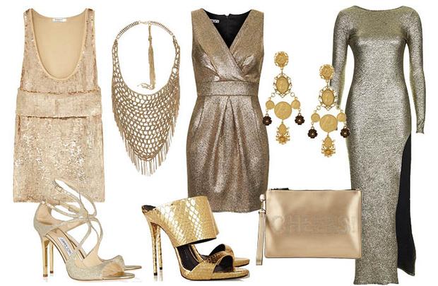 Выбор ELLE: топ Givenchy, ожерелье Zara, платья TopShop, туфли Jimmy Choo и Giuseppe Zanotti, серьги Dolce&Gabbana, клатч Aldo