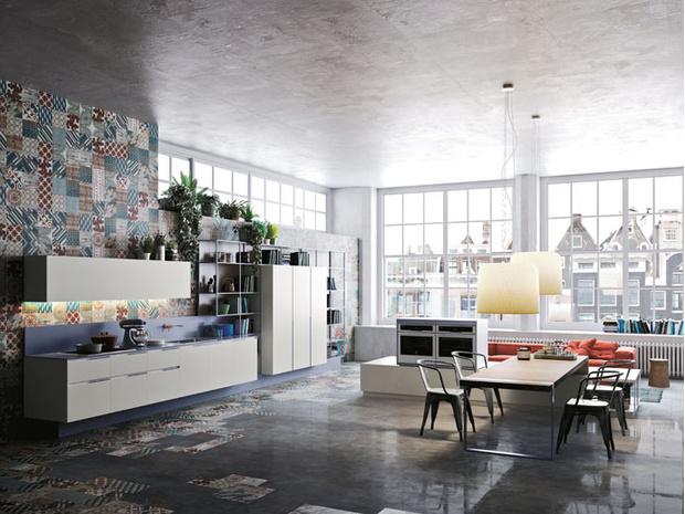 Кухня Orange Evolution, Snaidero, дизайн Микеле Маркона