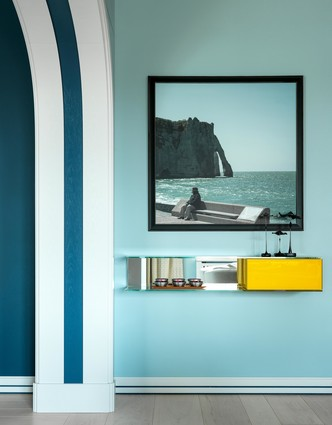 Песок и море: интерьер квартиры 200 м² в Москве (фото 1)