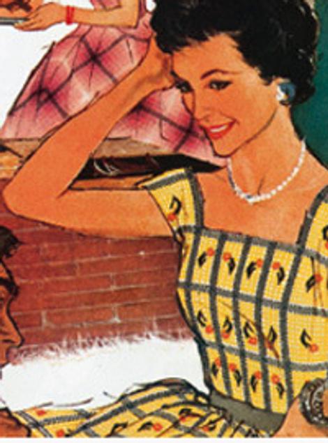 Журнальная иллюстрация 50-х годов