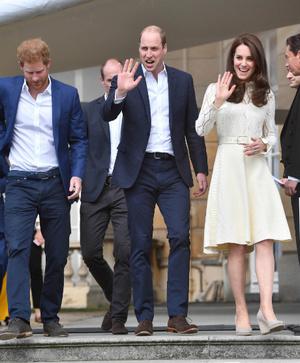 Кейт Миддлтон, принц Уильям и принц Гарри