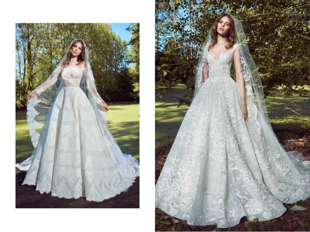 Перья и кружево: новая свадебная коллекция Zuhair Murad (фото 12)