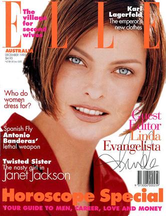 Oh bella! Лучшие обложки ELLE с легендарной Линдой Евангелистой (фото 5.1)