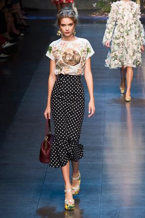 Показы мод Dolce & Gabbana Весна-лето 2014 | Подиум на ELLE - Подиум - фото 3630