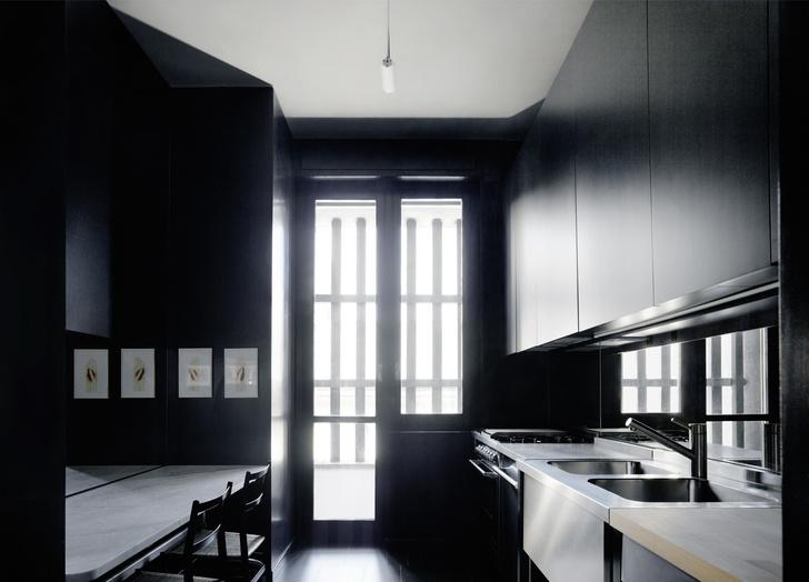 Миланская квартира в зеленых тонах (фото 9)