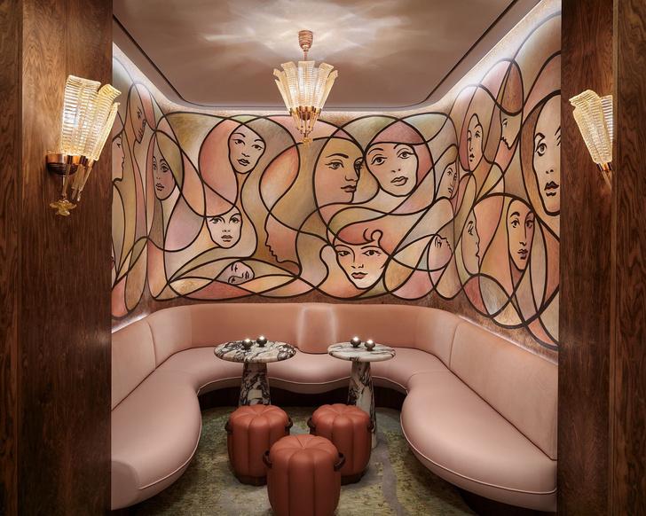 Элитный бар с настенной росписью в Лондоне (фото 12)