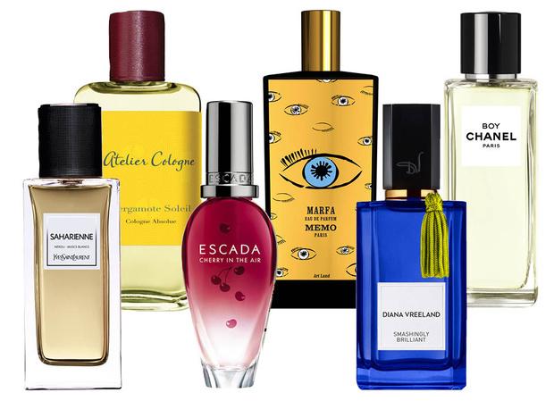 Saharienne YSL Le Vestiaire De Parfums; Atelier Cologne Bergamot Soley; Escada Cherry; Memo MARFA; Diana Vreeland Smashingly Brilliant; Chanel Boy