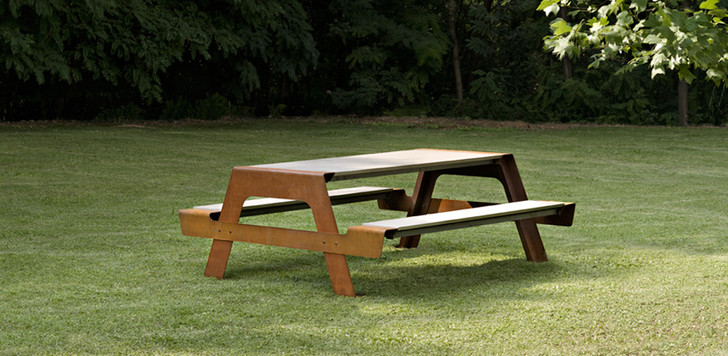 Садовый обеденный стол Pic-Nic с лавками, De Castelli, www.decastelli.it