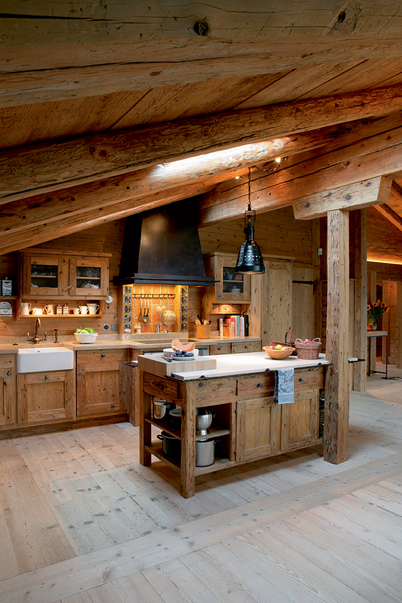 Деревянные кухни (галерея 0, фото 8)