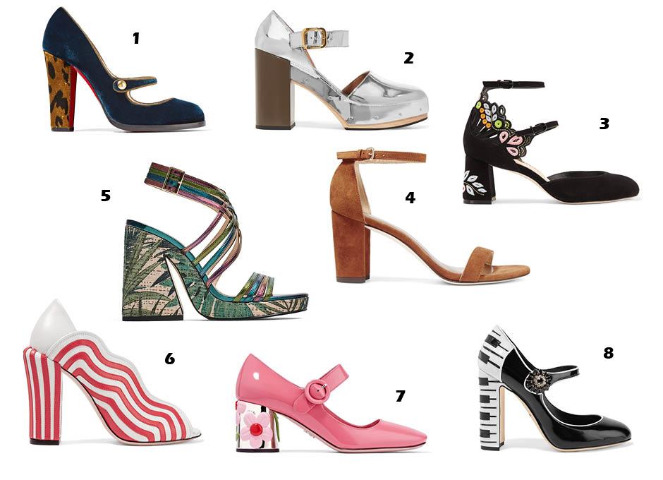 Модные туфли на толстом каблуке