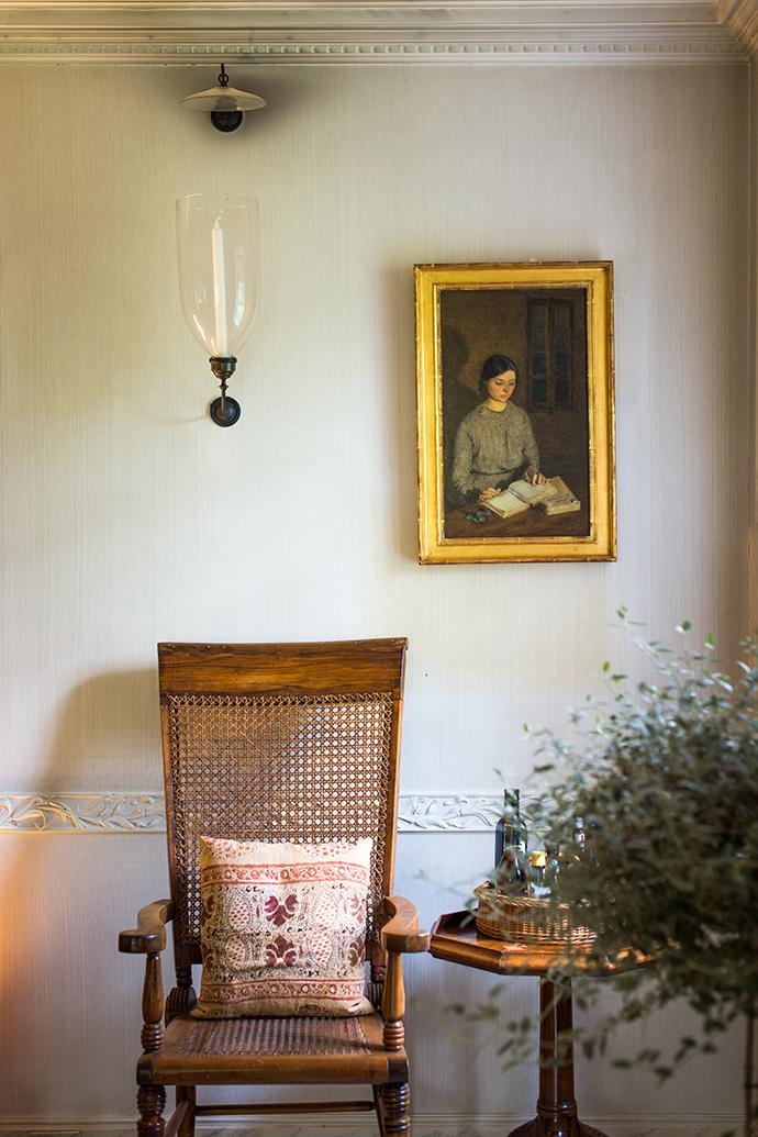 Фрагмент столовой в поместье Оак Спринг.