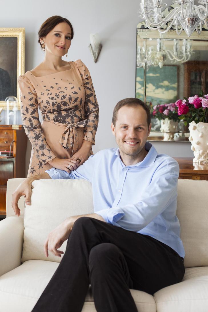 Алексей Дорожкин (главный редактор ELLE Decoration) с женой Еленой Сотниковой (главный редактор ELLE)