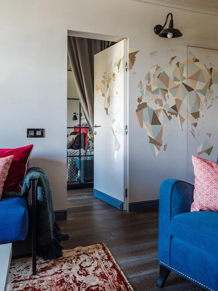 Интерьер трехкомнатной квартиры на Шереметьевской фото [2]
