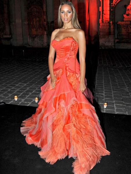 Леона Льюис в платье Roberto Cavalli