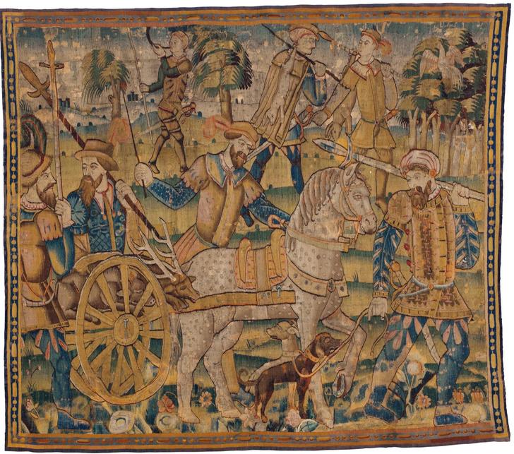 Шпалеры XVI-XVII веков на выставке в Москве (фото 6)