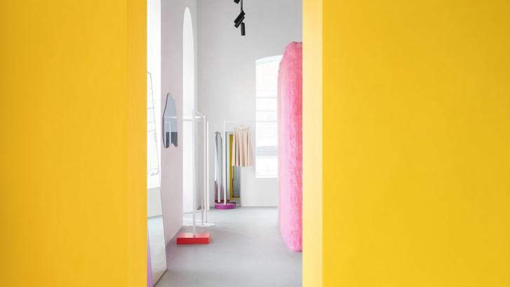 Желтые стены и розовый мех: шоу-рум в Ростове-на-Дону (фото 0)